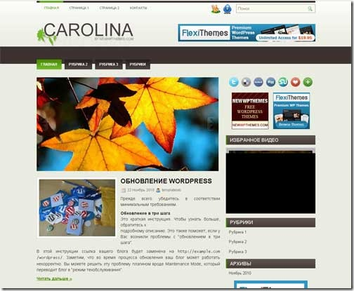 Carolina WordPress шаблон