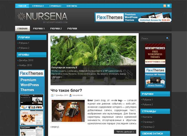 NURSENA WordPress шаблон