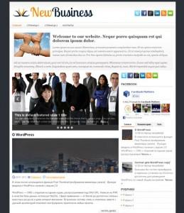 Wordpress тема NewBusiness