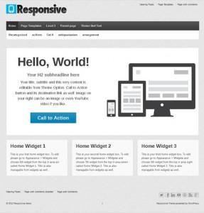Responsive Theme WordPress