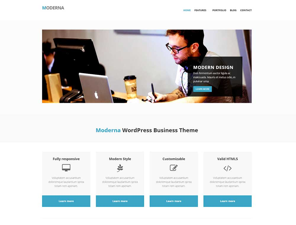 490f00dbb32 WordPress шаблон Moderna
