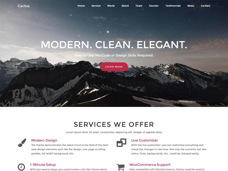CACTUS WordPress на bootstrap 3