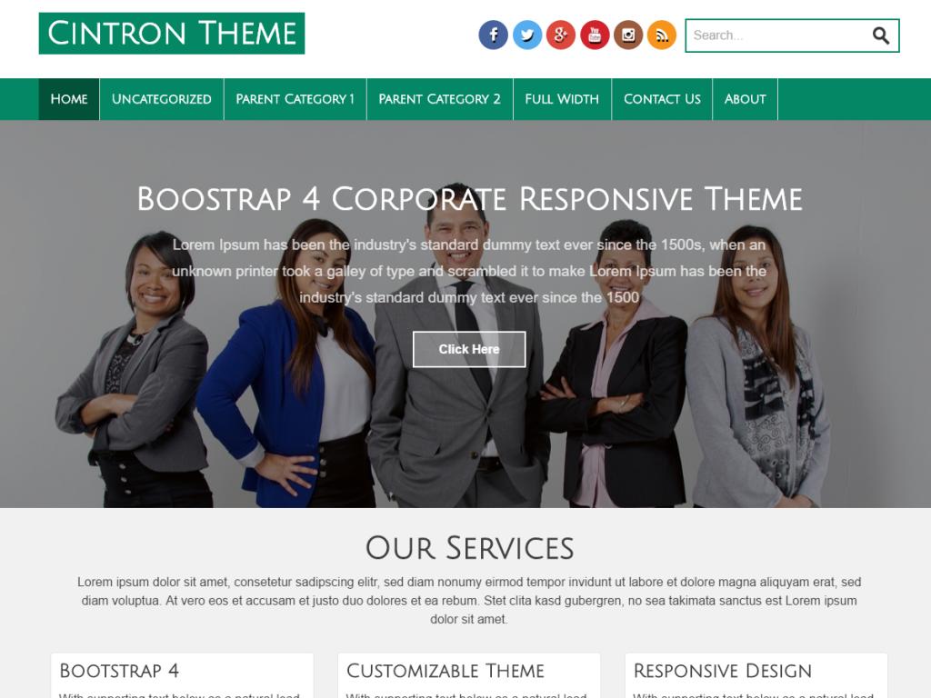Cintron WordPress тема